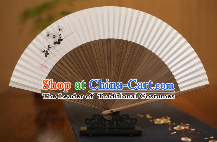 Traditional Chinese Crafts Ink Painting Folding Fan Paper Fans for Men