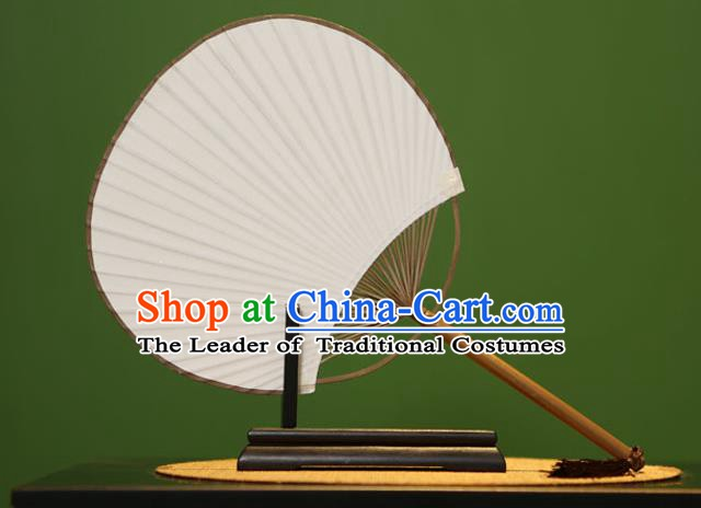 Traditional Chinese Crafts Xuan Paper Fan, Chinese Art Paper Palace Fans Bambusa Surrecta Fans for Women