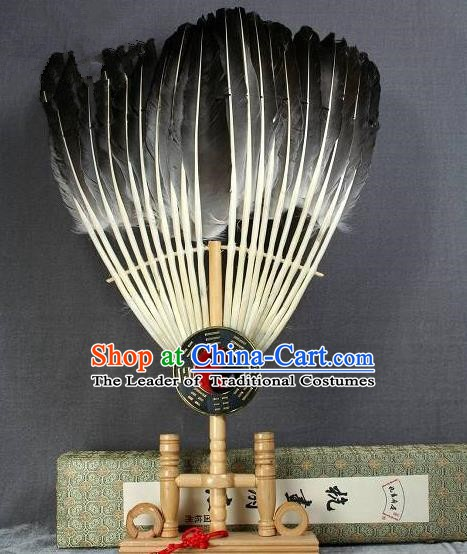 Traditional Chinese Crafts Goose Feather Fan, China Palace Fans Gong Myung Fans for Men