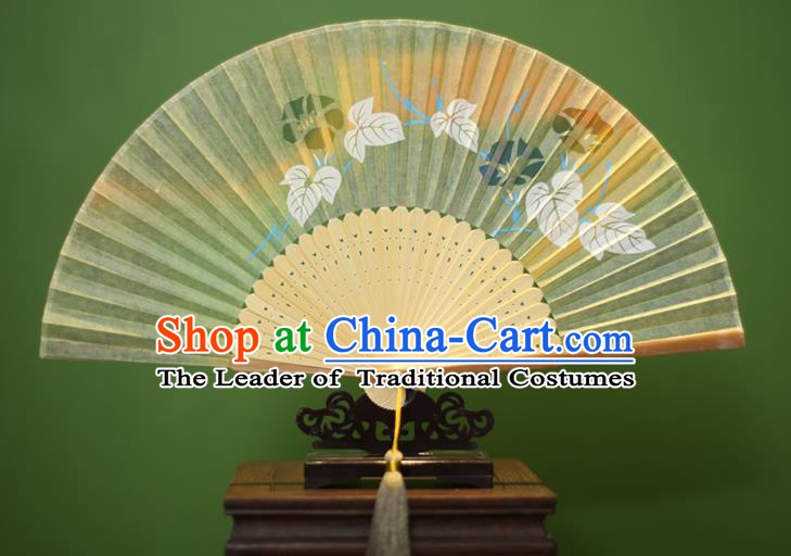 Traditional Chinese Crafts Printing Petunia Folding Fan, China Handmade Classical Silk Fans for Women