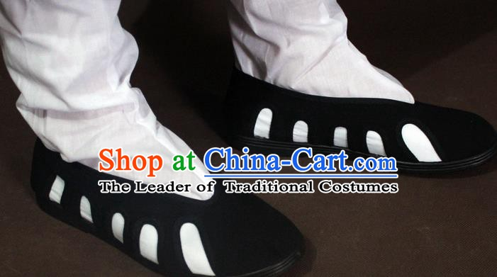 Traditional China Beijing Opera Taoist Priest Shoes, Chinese Peking Opera Monk Shoes