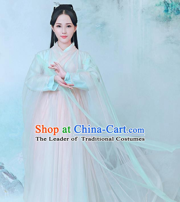 Traditional Chinese Ancient Peri Hanfu Clothing, China Tang Dynasty Palace Princess Costume for Women