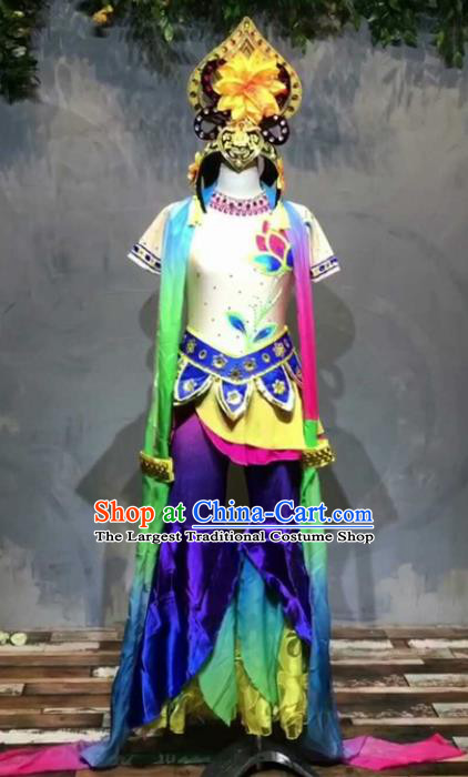 Chinese Traditional Folk Dance Costume Classical Dance Flying Dance Clothing for Women