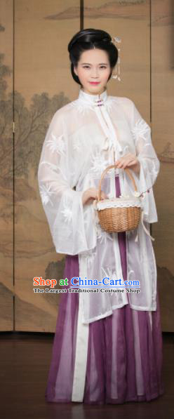 Traditional Chinese Ming Dynasty Countess Hanfu Dress Ancient Nobility Lady Costumes for Women