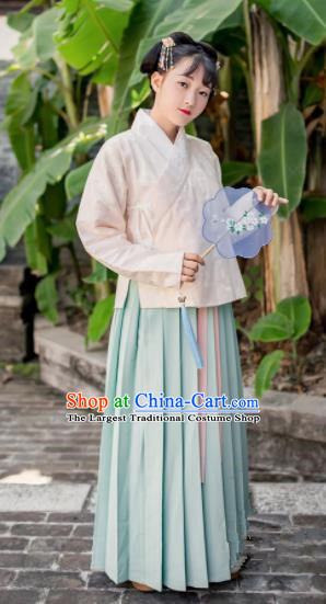 Chinese Traditional Ming Dynasty Nobility Lady Costumes Ancient Maidenform Hanfu Dress for Women
