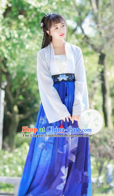 Chinese Traditional Tang Dynasty Palace Lady Costumes Ancient Maidenform Hanfu Dress for Women