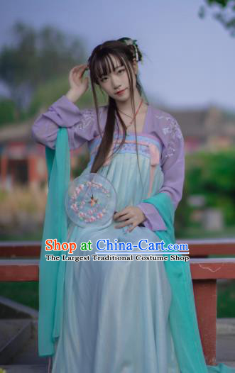 Chinese Traditional Ancient Costumes Tang Dynasty Maidenform Hanfu Dress for Women