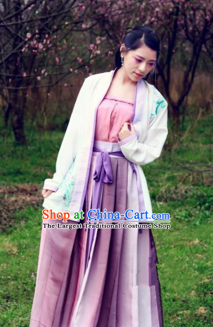 Chinese Traditional Ancient Costumes Song Dynasty Nobility Lady Hanfu Dress for Women