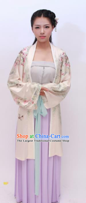 Chinese Traditional Ancient Costumes Song Dynasty Palace Princess Hanfu Dress for Women