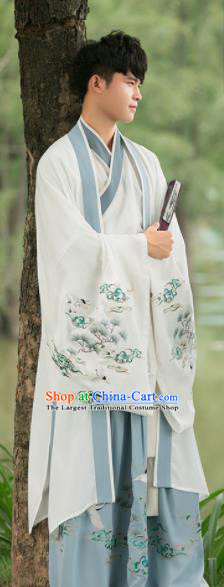 Chinese Han Dynasty Costumes Traditional Ancient Swordsman Clothing for Men