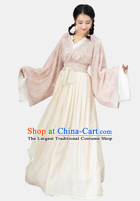 Ancient Chinese Jin Dynasty Princess Historical Costumes Nobility Lady Hanfu Dress for Women