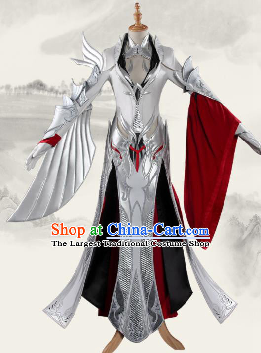 Chinese Traditional Cosplay Female General Costumes Ancient Swordswoman Clothing for Women