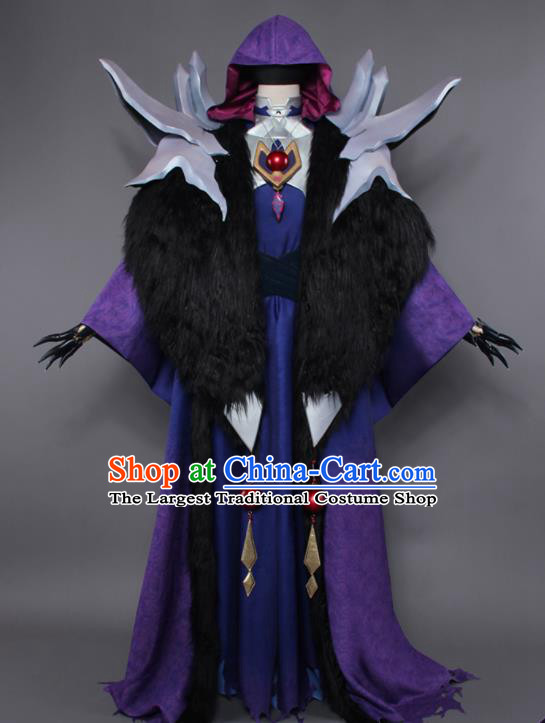 Chinese Traditional Cosplay Assassin Swordsman Costumes Ancient Nobility Childe Clothing for Men