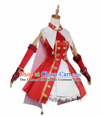 Top Grade Chinese Cosplay Costumes Ancient Young Lady Swordswoman Red Qipao Dress for Women
