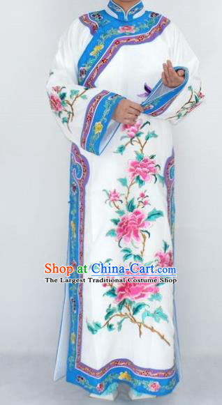 Chinese Traditional Peking Opera Empress Costumes Ancient Qing Dynasty Queen Embroidered Dress for Women