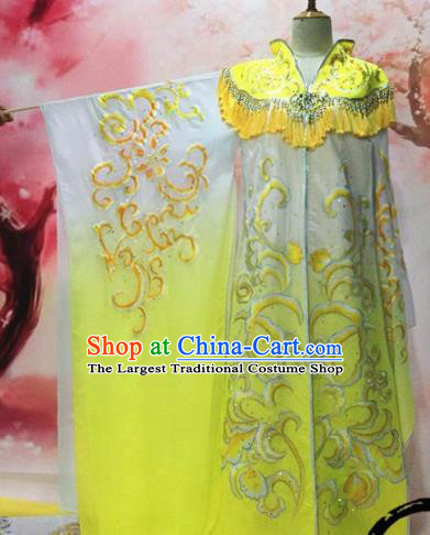 Traditional Chinese Tang Dynasty Historical Costumes Ancient Imperial Consort Embroidered Yellow Hanfu Dress for Women