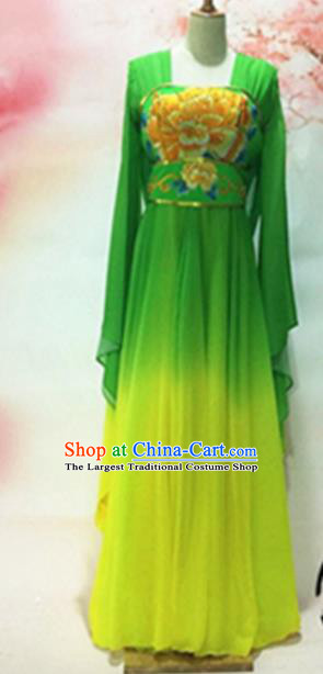 Traditional Chinese Tang Dynasty Historical Costumes Ancient Princess Embroidered Green Dress for Women