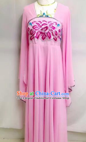 Traditional Chinese Tang Dynasty Court Maid Historical Costumes Ancient Embroidered Pink Hanfu Dress for Women