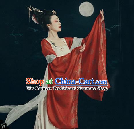 Traditional Chinese Tang Dynasty Palace Costumes Ancient Imperial Consort Hanfu Dress for Women