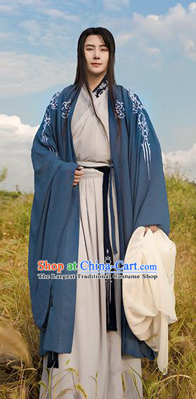 Traditional Chinese Ancient Swordsman Clothing Spring and Autumn Period Nobility Childe Costumes for Men