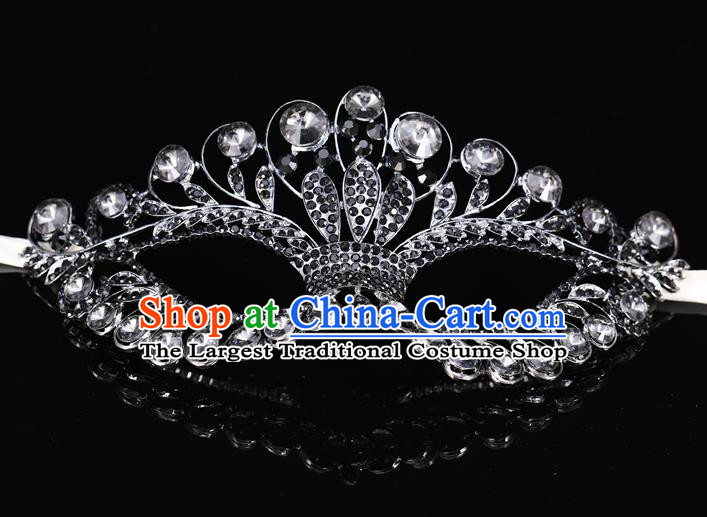 Handmade Halloween Accessories Venice Fancy Ball Cosplay Props Crystal Grey Masks for Women