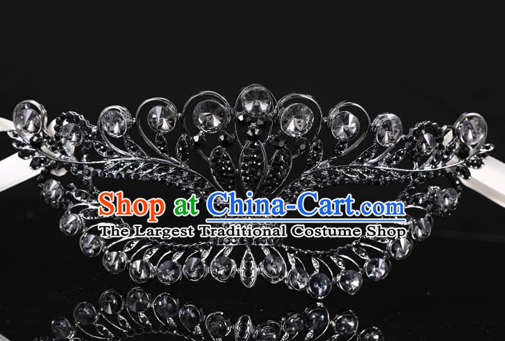 Handmade Halloween Accessories Venice Fancy Ball Cosplay Props Crystal Black Masks for Women