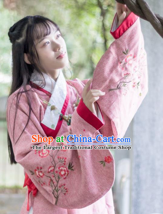 Traditional Chinese Ancient Ming Dynasty Costume Nobility Lady Embroidered Blouse for Rich Women