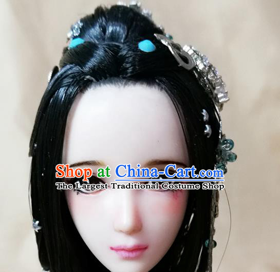 Chinese Ancient Han Dynasty Swordswoman Hair Accessories Hairpins Complete Set for Women