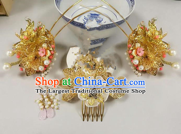 Chinese Ancient Han Dynasty Princess Hair Accessories Palace Hairpins Hair Comb for Women