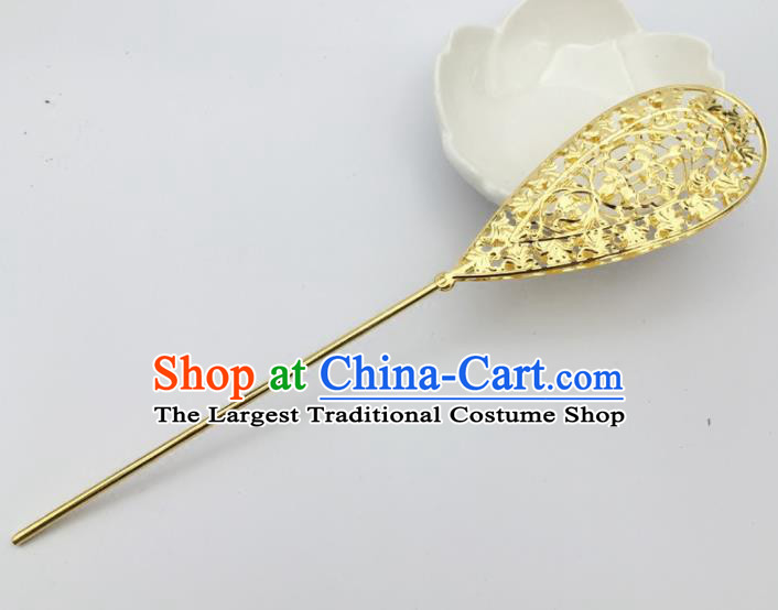 Chinese Ancient Princess Hair Accessories Palace Golden Hairpins for Women