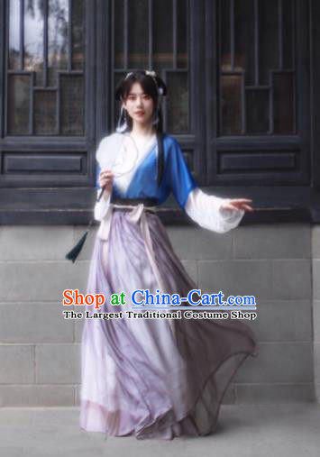 Chinese Tang Dynasty Nobility Lady Costumes Ancient Las Meninas Hanfu Dress for Women