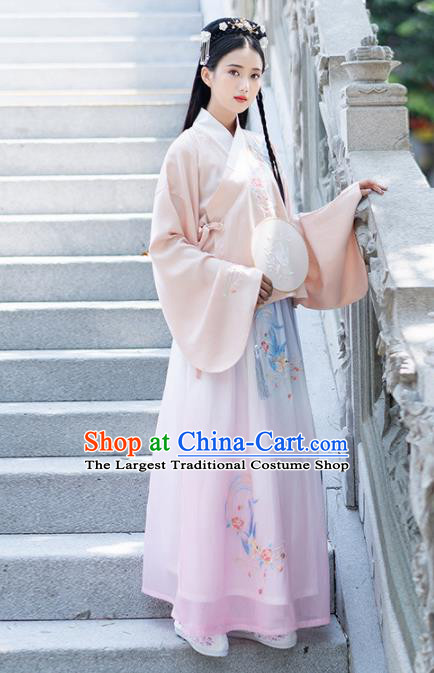 Traditional Chinese Ming Dynasty Princess Costumes Ancient Peri Hanfu Dress for Rich