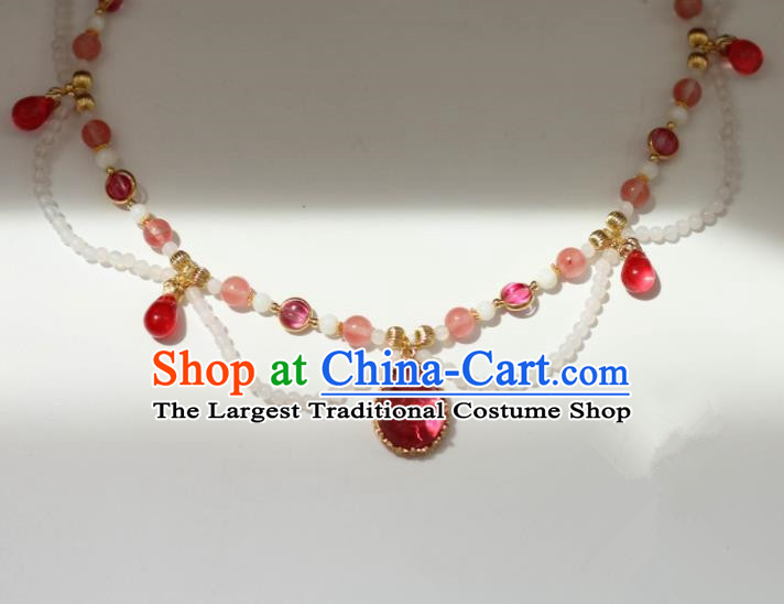 Traditional Chinese Handmade Necklace Ancient Palace Lady Necklet Accessories for Women
