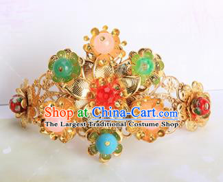 Chinese Traditional Handmade Hair Accessories Ancient Princess Colorful Beads Hairpins for Adults
