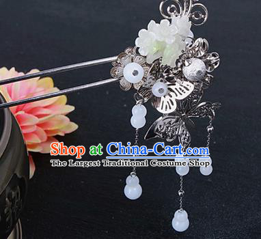 Chinese Traditional Handmade Hair Accessories Ancient Princess Butterfly Tassel Hairpins for Adults