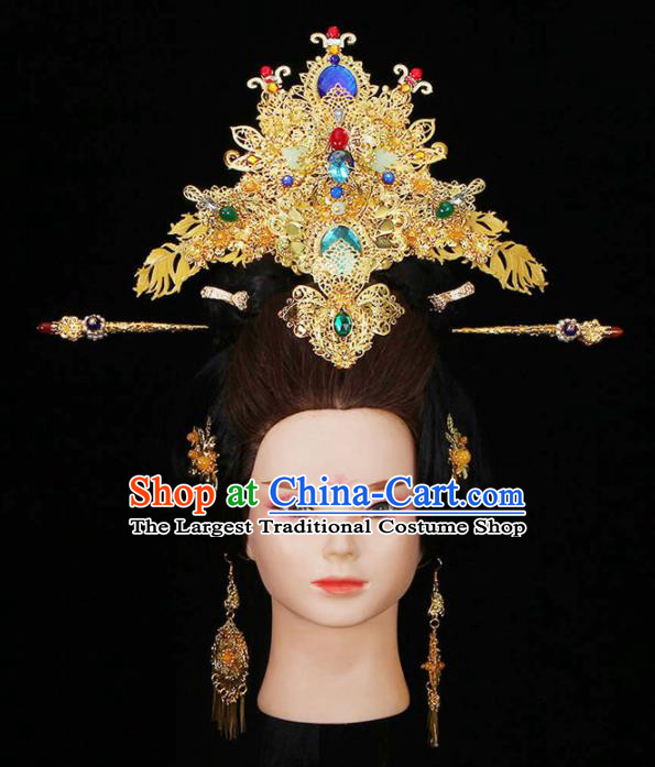 Chinese Traditional Handmade Hairpins Ancient Tang Dynasty Empress Headwear for Women