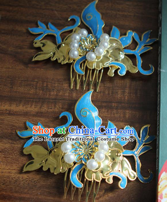 Chinese Traditional Handmade Hairpins Ancient Hanfu Hair Combs Hair Accessories for Women