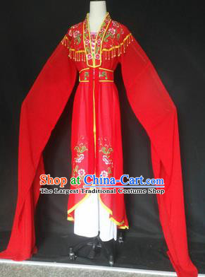 Chinese Traditional Peking Opera Costumes Ancient Court Maid Red Dress for Adults