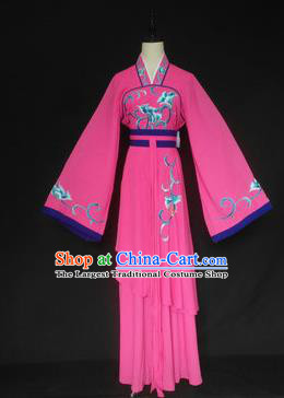 Chinese Traditional Peking Opera Las Meninas Rosy Costumes Ancient Beijing Opera Diva Clothing for Adults