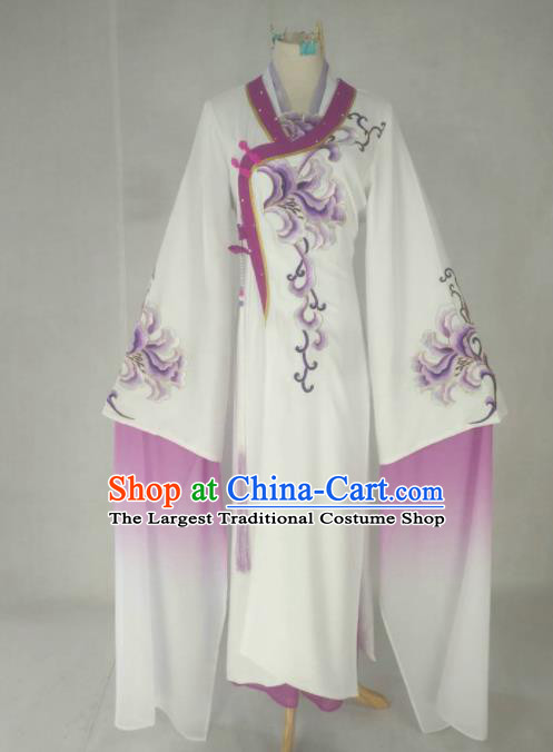 Chinese Traditional Peking Opera Princess Costumes Ancient Beijing Opera Diva Purple Dress for Adults