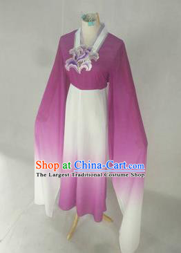 Chinese Traditional Peking Opera Court Maid Costumes Ancient Beijing Opera Diva Purple Dress for Adults