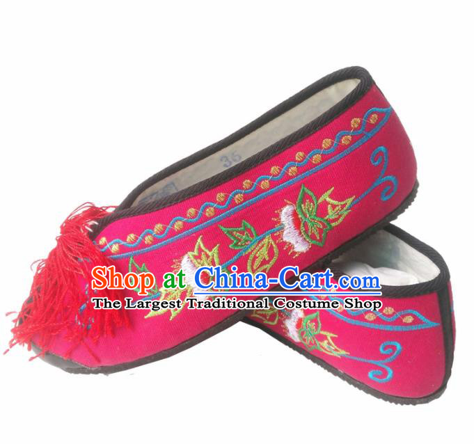 Chinese Traditional Peking Opera Actress Embroidered Shoes for Women
