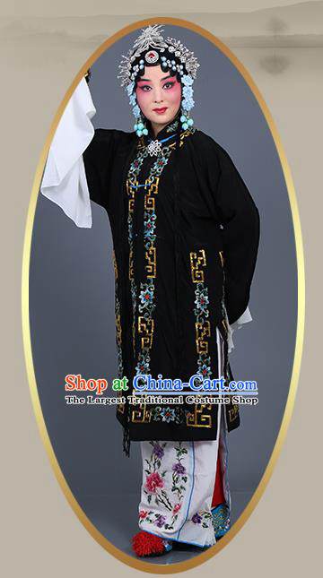 Chinese Traditional Beijing Opera Actress Costumes Ancient Nobility Lady Black Dress for Adults