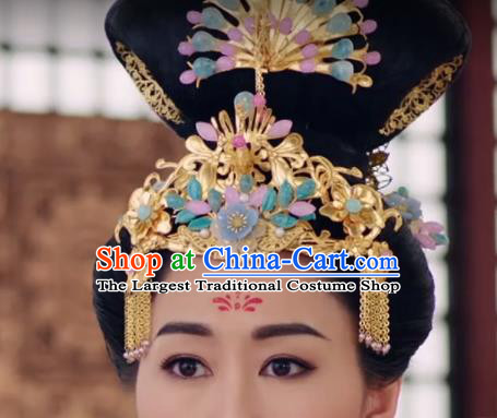 Handmade Chinese Ancient Queen Hair Accessories Hanfu Hairpins Complete Set for Women