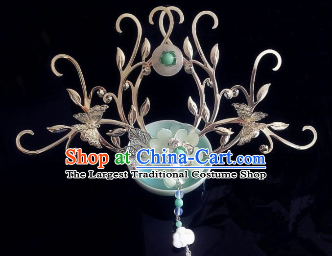 Chinese Handmade Ancient Hair Accessories Hanfu Butterfly Hair Comb Hairpins for Women