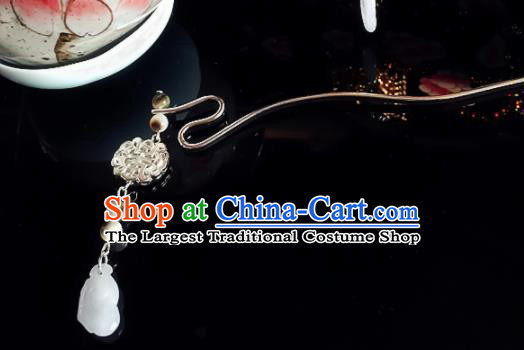 Chinese Handmade Ancient Palace Jade Tassel Hair Clip Hair Accessories Hanfu Hairpins for Women