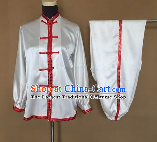 Chinese Traditional Martial Arts Costumes Tai Chi Tai Ji Training Silk Clothing for Adults