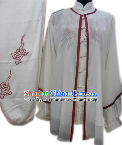 Chinese Traditional Martial Arts Costumes Tai Chi Kung Fu Training Embroidered Clothing for Adults