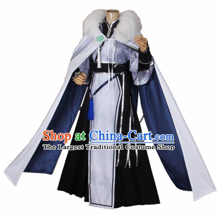 Chinese Traditional Cosplay Swordsman Costumes Ancient Prince Clothing for Men
