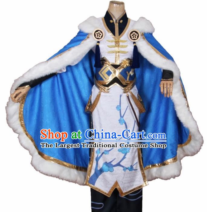 Chinese Traditional Cosplay Swordsman Costumes Ancient Knight Clothing for Men